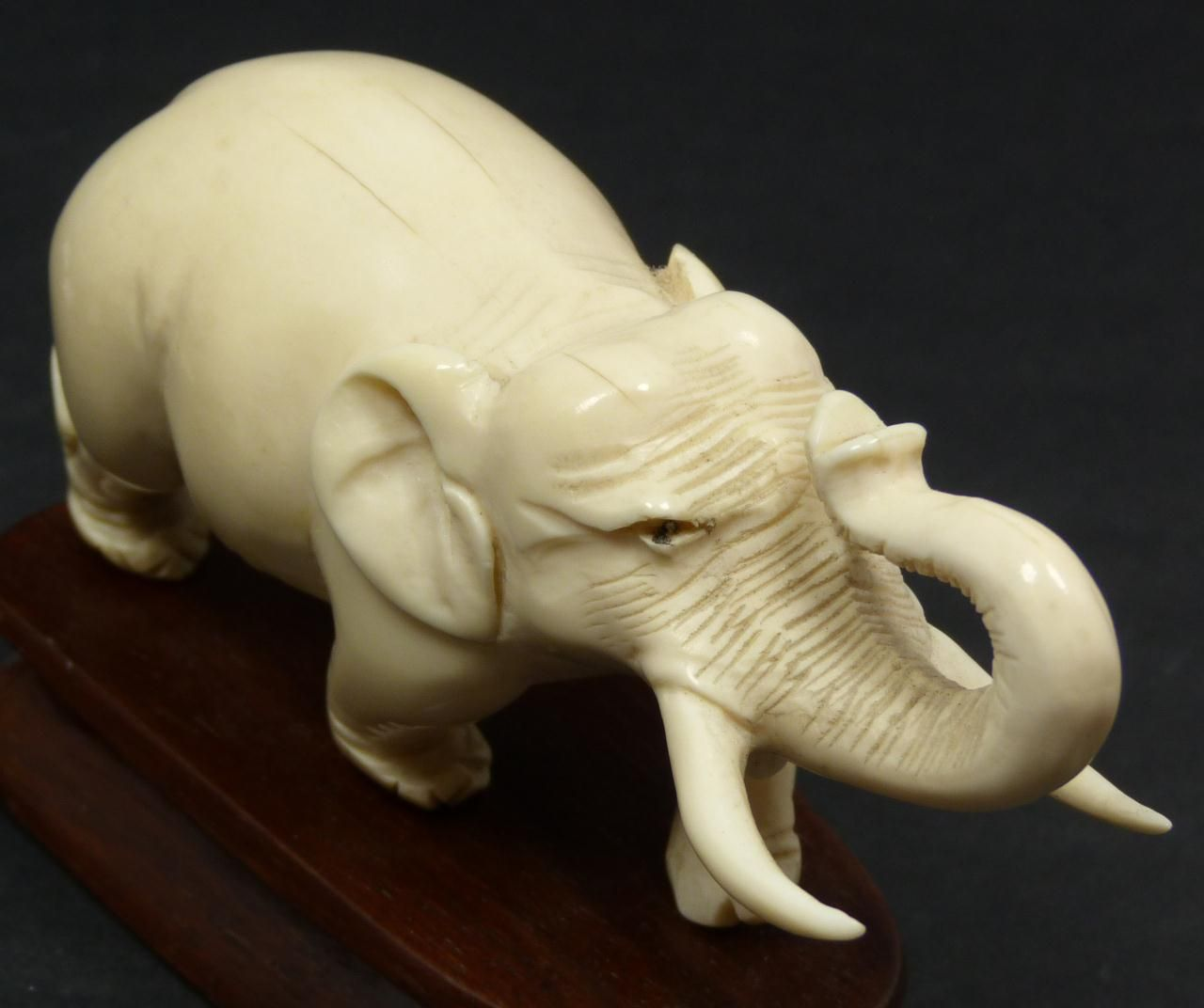 ANTIQUE HAND CARVED IVORY ELEPHANT | Ivory | Wood carving ...