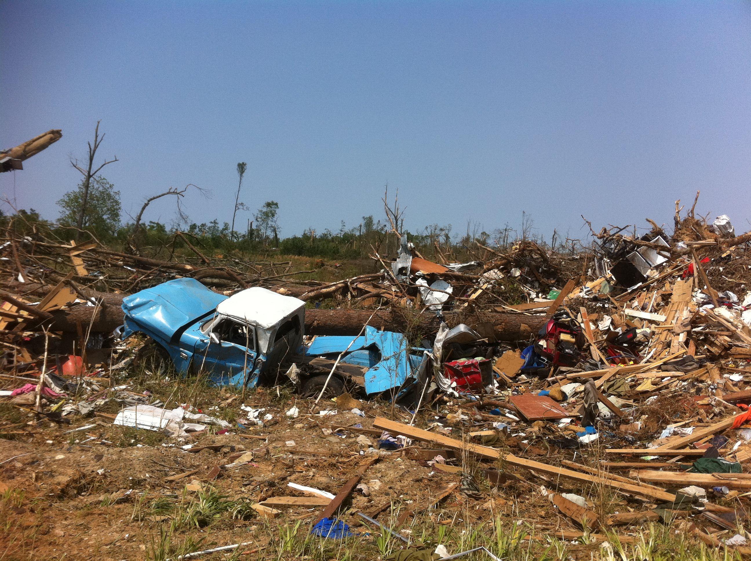 Tornado debris, Alabama 2011