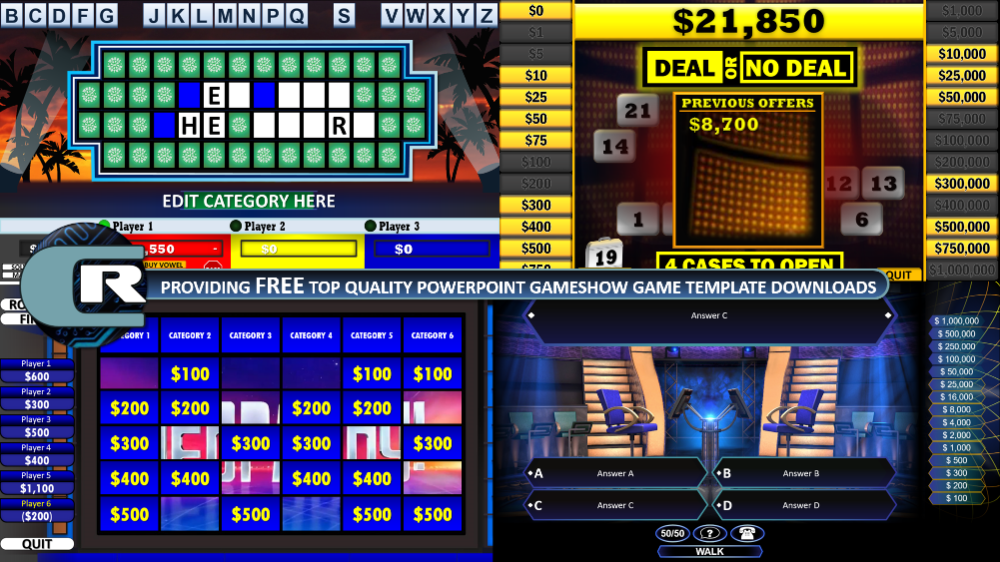 Download the best FREE PowerPoint games! Jeopardy, Family