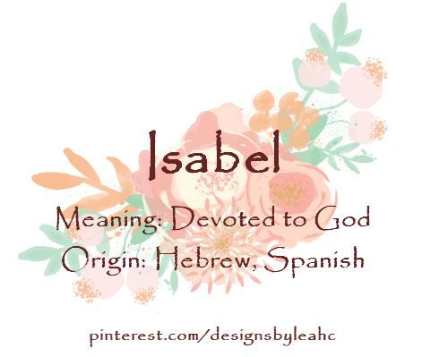 Isabella meaning in hebrew