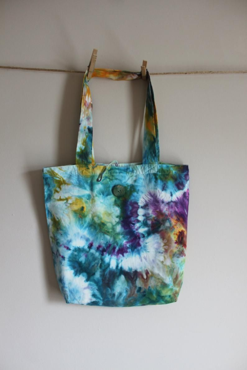 Tote,Hand dyed tote bags,tie dye shopping bag,purple market bag,ombre bag,blue tote,