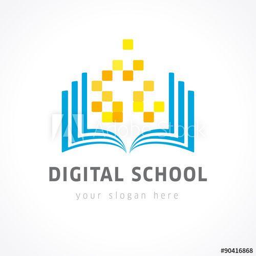 Digital School Color Logo Education Logo Conference Logo
