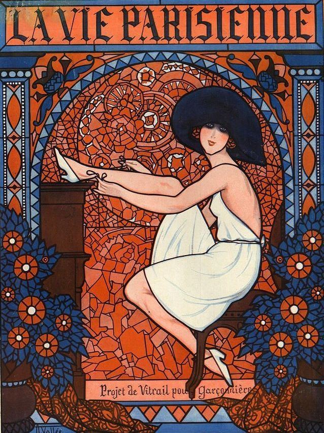 Illustration For La Vie Parisienne November 1921, Armand Vallee