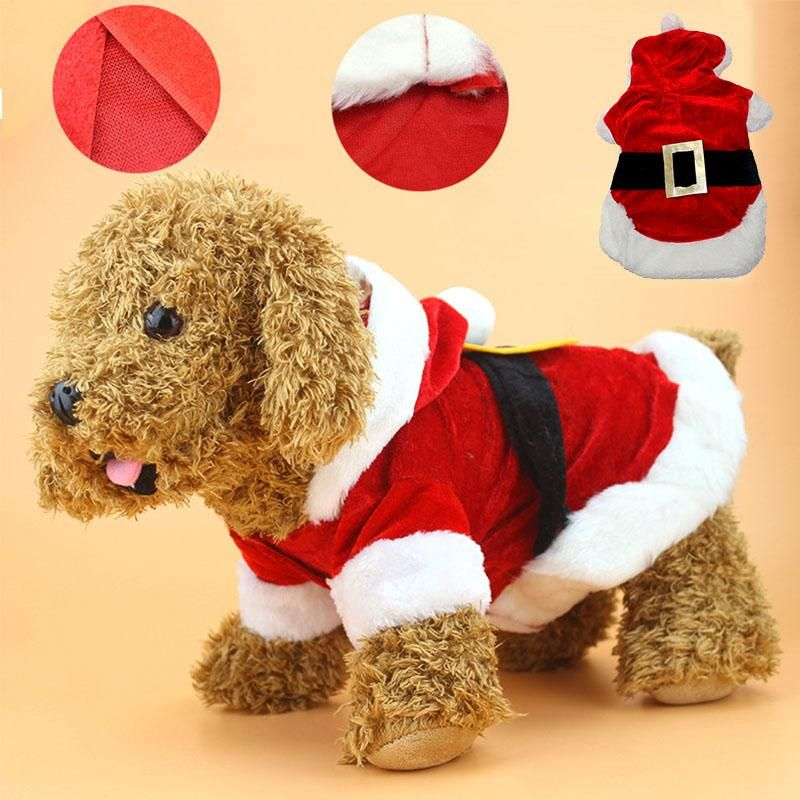Christmas Dog Costumes.Type Dogs Material Fleece Pattern Solid Use Christmas