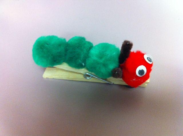Image result for very hungry caterpillar craft pom pom