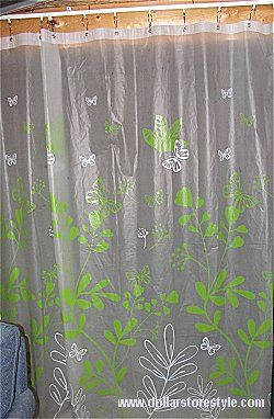 Use A Vinyl Shower Curtain To Hide Storage Area In The Basement