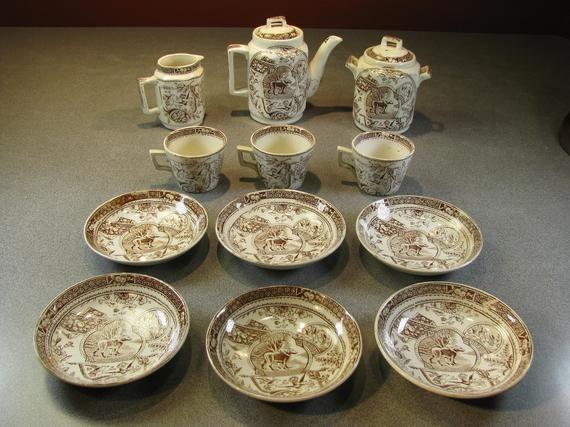 1890 Staffordshire Childs Tea Set Made