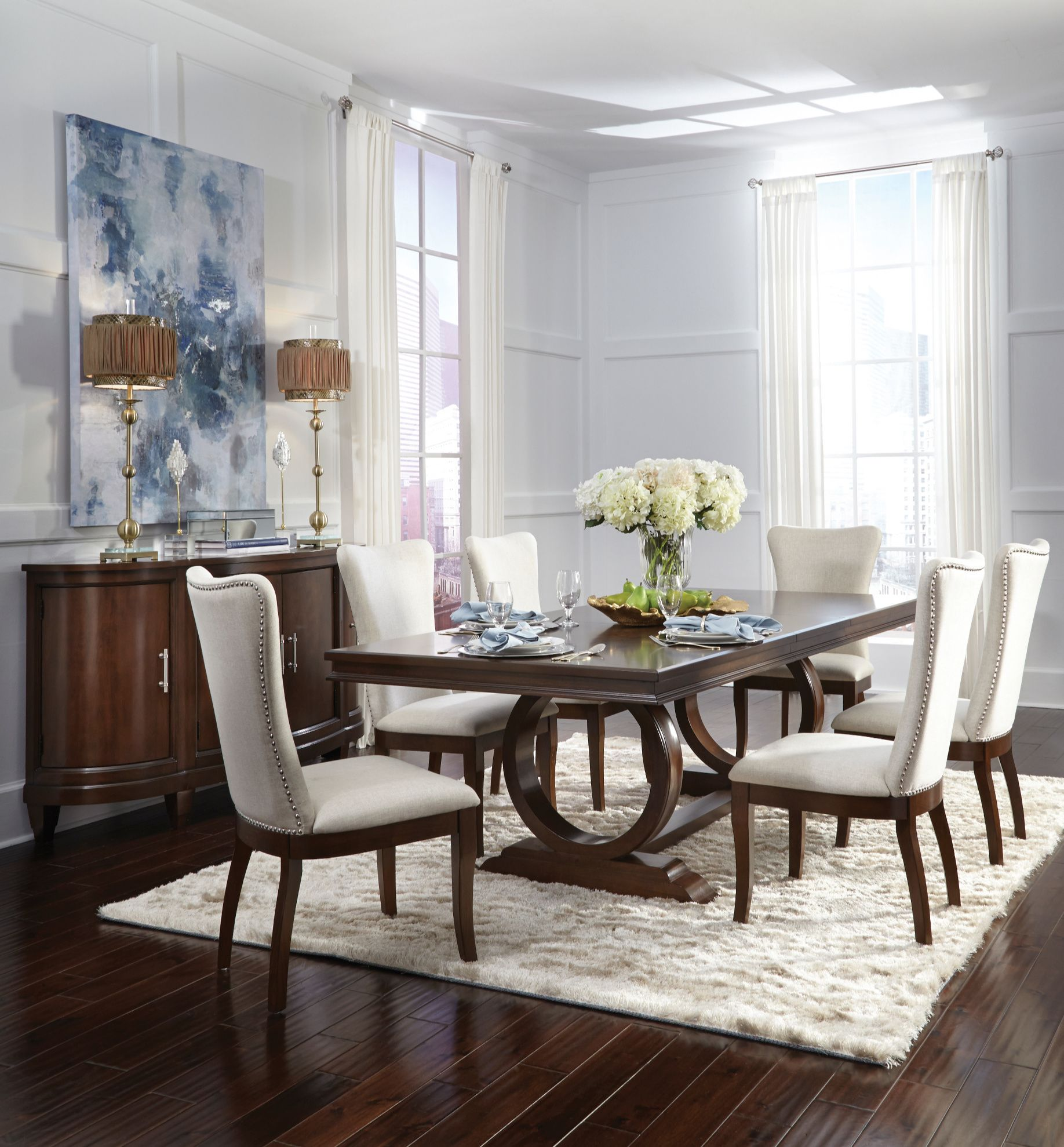 Infinity Dining Collection  Large dining room, Dining table