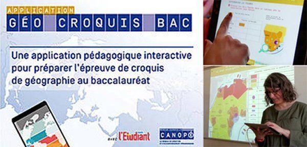 """L'application """"Géo Croquis Bac"""" outil de référence pour enseigner la géographie en classe de terminale @reseau_canope"""