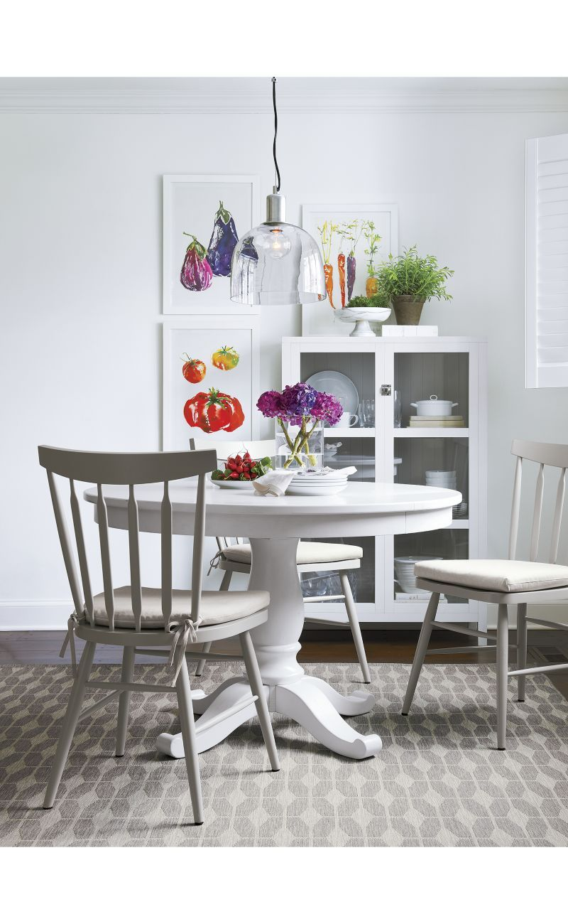 White Extension Dining Table Avalon 45 White Extension Dining Table Crate And Barrel