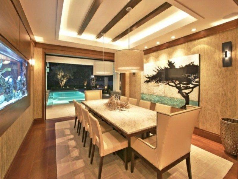 50 Ideen für behagliche indirekte Beleuchtung Led beleuchtung - abgeh ngte decke wohnzimmer