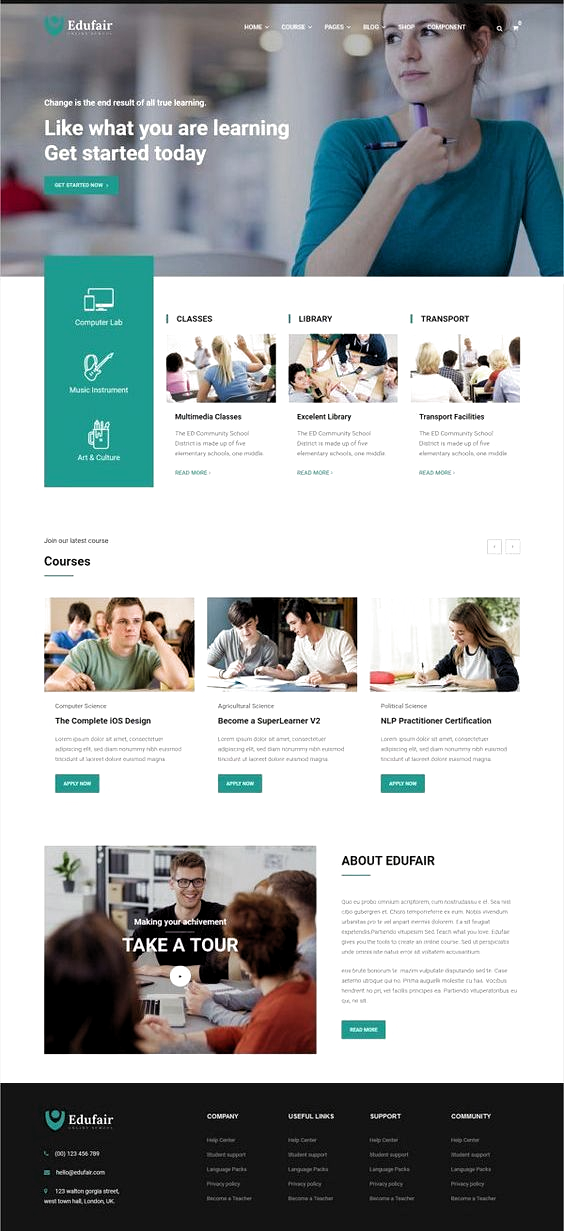 Educational Website Template Design Inspiration Websitedesign Creativewebsitedesign In 2020 Webdesign Layouts Website Templates Web Design