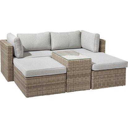 Lounge Set Olea 5 Teilig Aus Polyrattan Sand Kaufen Bei Obi Lounge Mobel Lounge Gartenmobel Gartenmobel
