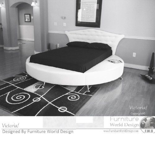 King Size Victoria Leather Round Bed Amazon Home Kitchen