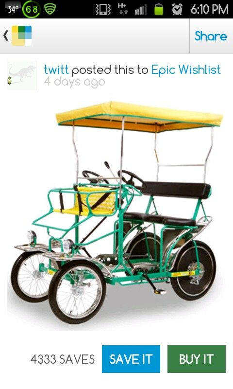 Bike Golf Cart Bike, Surrey, Hammacher schlemmer