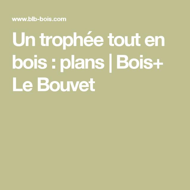 Un trophée tout en bois : plans | Bois+ Le Bouvet