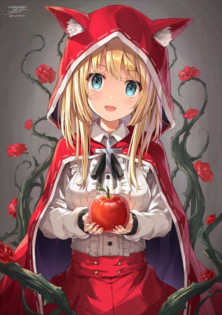 Красная шапочка картинка аниме