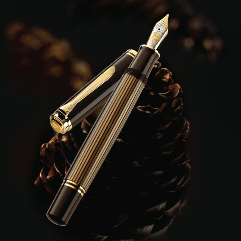 Pelikan Souveran 800 Brown Black Fountain Pen Fountain Pen Pen Pen Shop
