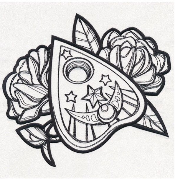 Ouija Board Embroidery Designs