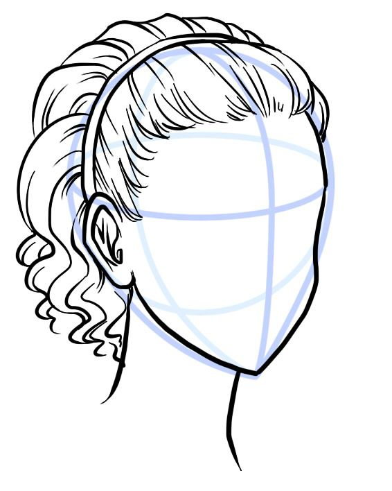 Drawing Hairlines : Outline your hair style with a scribbley line description