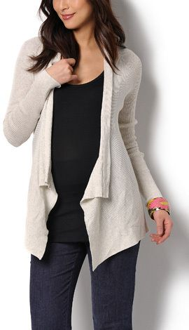 A soft cotton cardigan can be layered when it's little cold.