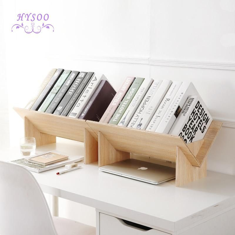Solid Wood Assembly Bookshelf Table Floor Small Bookcase Student