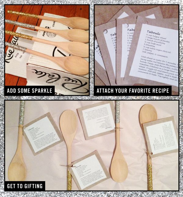 #DIY glitter recipe spoons