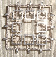 Mid 20th Century Modernist Sterling Pin