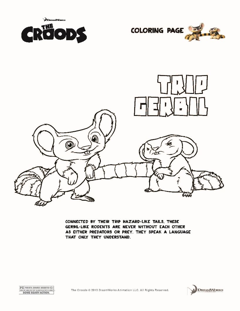 TRIP GERBIL The Croods coloring page | Coloring Book | Pinterest ...