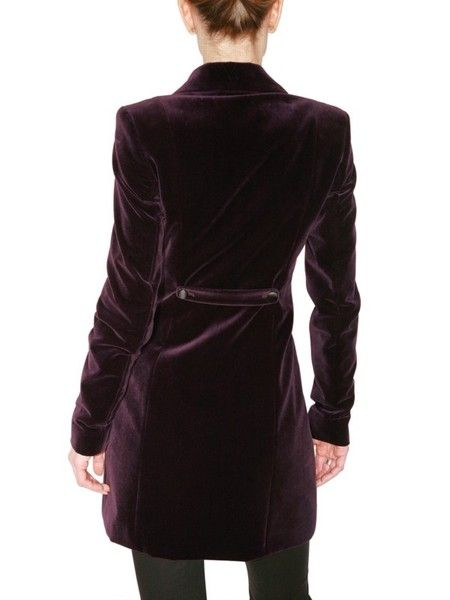 Versus Velvet Blazer with Strap Details in Purple - Lyst
