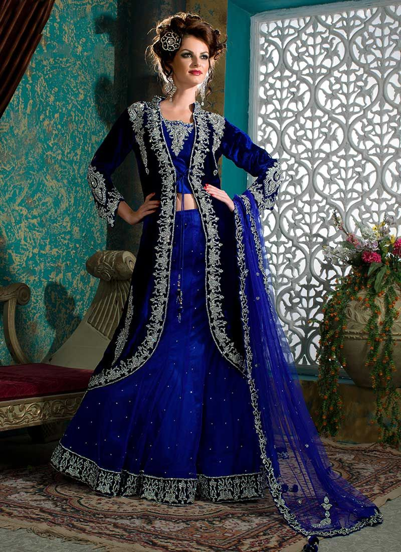 Royal blue lehenga | Asian bridal wear