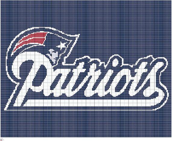 Knit New England Patriots Intarsia Knitting By Fadesigncharts