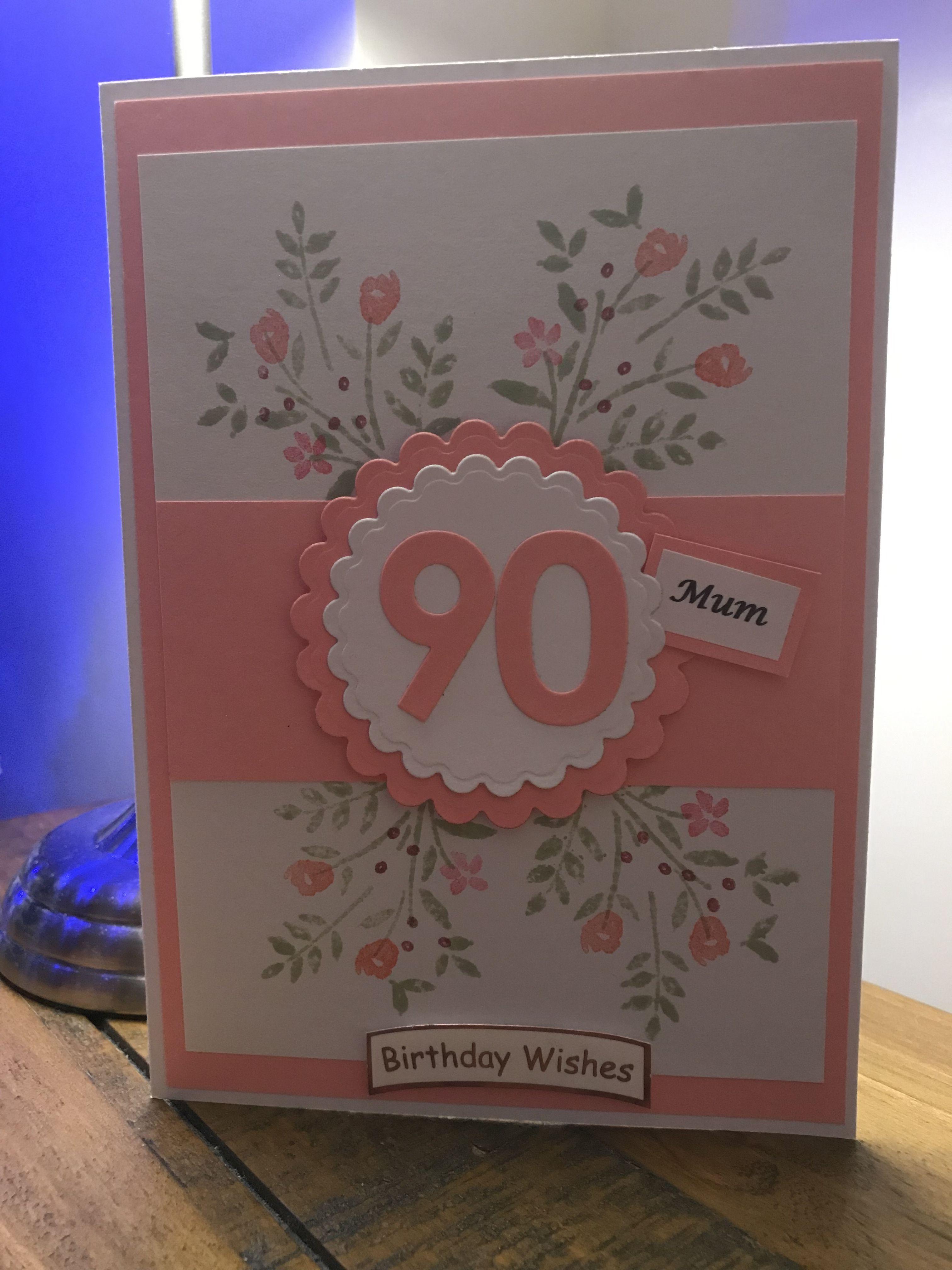 90th Birthday Card 90th Birthday Cards Grandma Birthday Card Birthday Cards