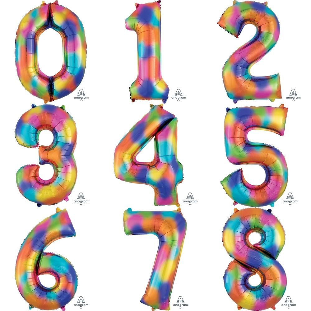 """32/"""" Giant Foil Number Self Inflating Balloons Birthday Age Party Wedding"""