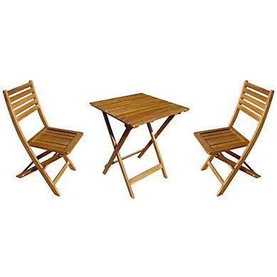 Salon de jardin table+chaises KANGOO Bois massif