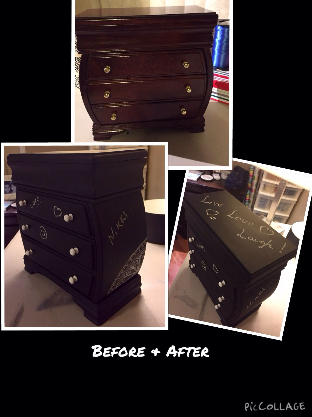 Before & after chalkboard paint
