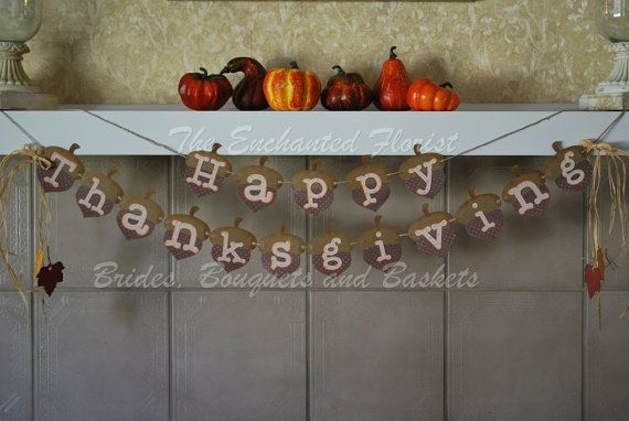 Thanksgiving Bunting  Happy Thanksgiving by theenchantedflorist