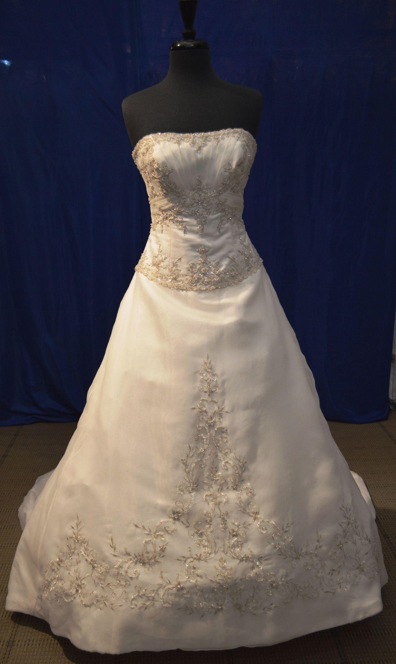 Ivory/Silver Organza 2167 Wedding Dress   Pinterest   Mori lee ...