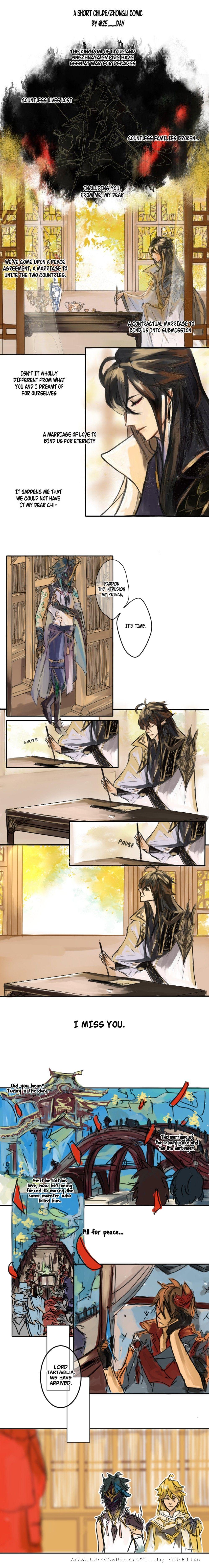 A short childe x zhongli comic 12 anime romance impact