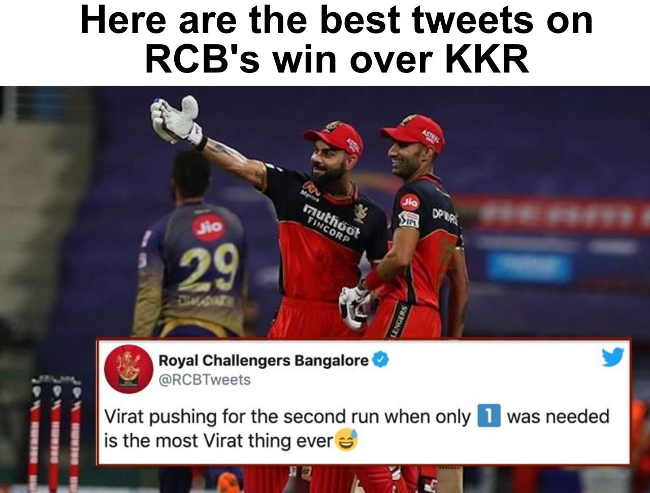Ipl 2020 Twitter Reactions Mohammed Siraj Shines As Rcb Make Mincemeat Of Kkr Royal Challengers Bangalore Best Friends Funny Crickets Funny