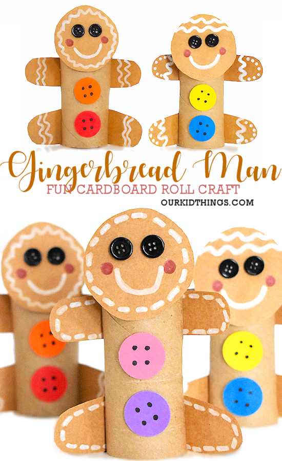 Photo of Cardboard Roll Gingerbread Man Craft | Our Kid Things