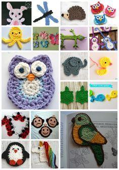 Patrones Gratis De Crochet Amigurumi Y Manualidades 20 Apliques De Animalitos A Crochet Con Patron Gratis Conejito De Ganchillo Aplique De Ganchillo Patrones