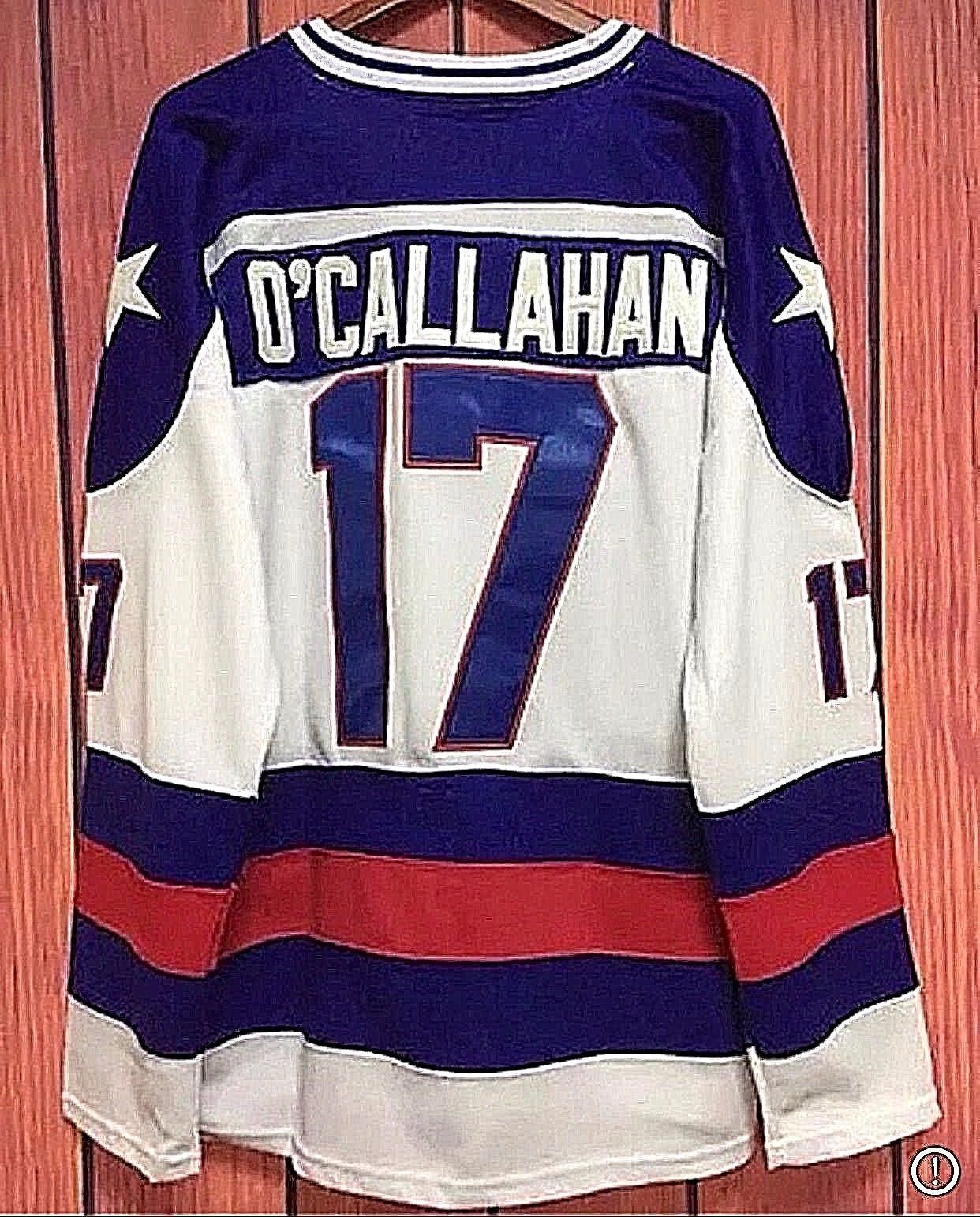 Jack O Callahan 17 Team Usa Olympic Hockey Jerseys