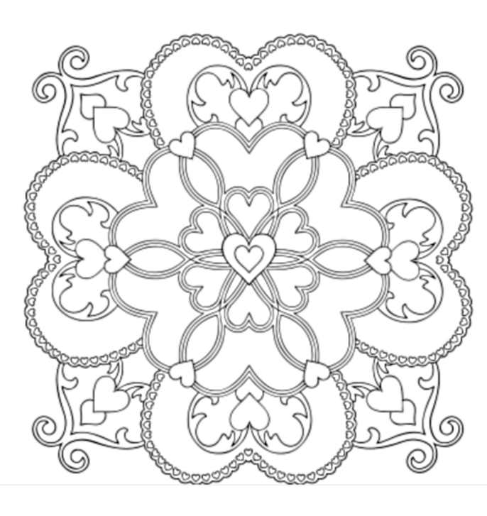 Павловские платки картинки для срисовки