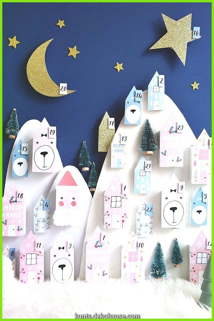Zauberhafte Adventskalender zum Ausdrucken. | Kriboute #calendrierdelaventfaitmaisonenfant