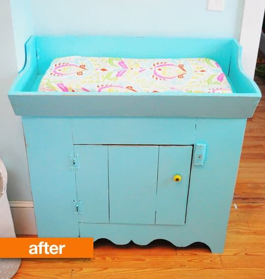 Before U0026 After: From Antique Dry Sink Into Changing Table U2014 Taste{full}