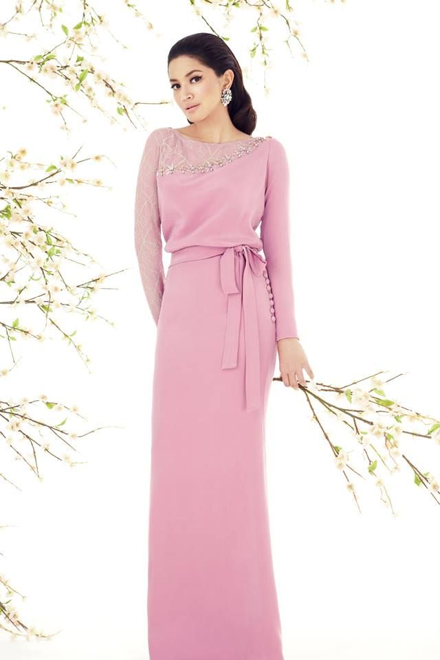 Raya 14-14 by Innai Red. A purple dress with belt/bow at the waist ...