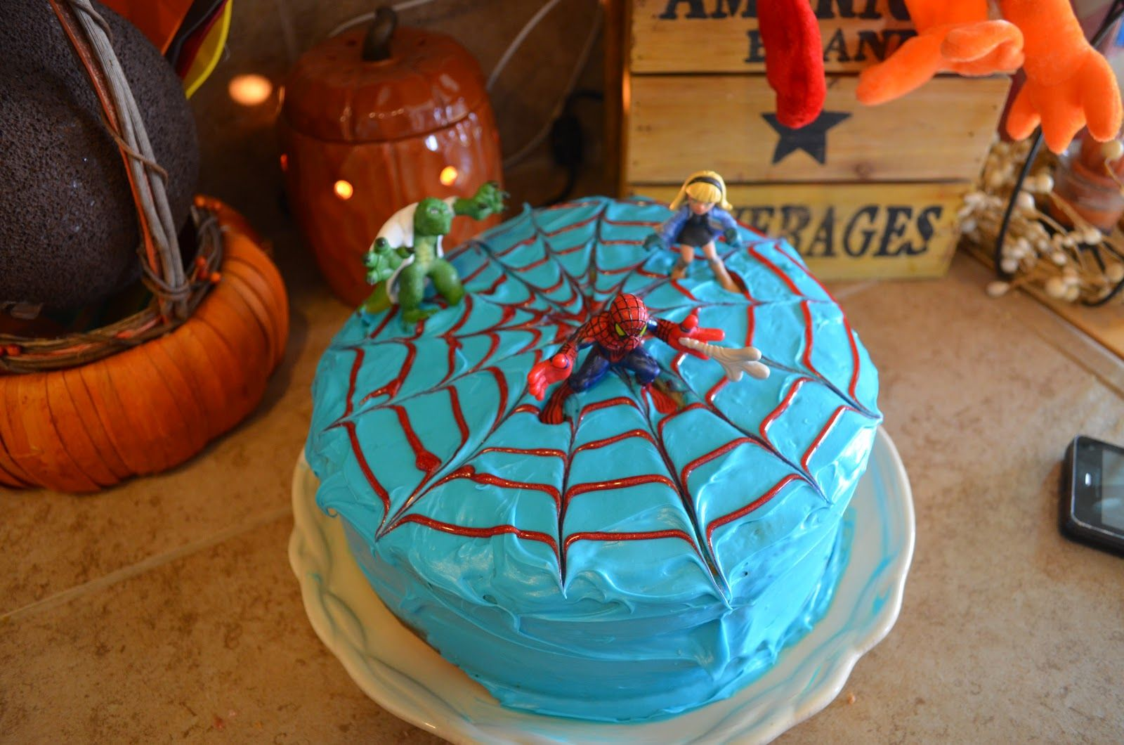 Diy Easy Spiderman Cake Spiderman Cake Superhero Birthday Cake