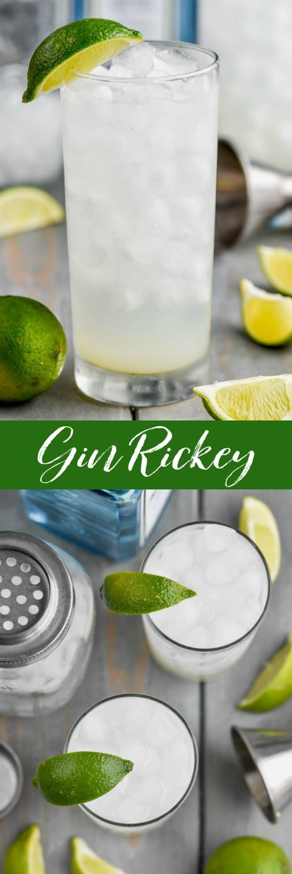 Dieses Gin Rickey Rezept ist die weniger süße, kalorienarme Version des Gin and To ... #simplecocktail