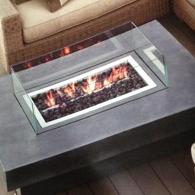 Great Laguna Concrete Propane Fire Table   Restoration Hardware $1995